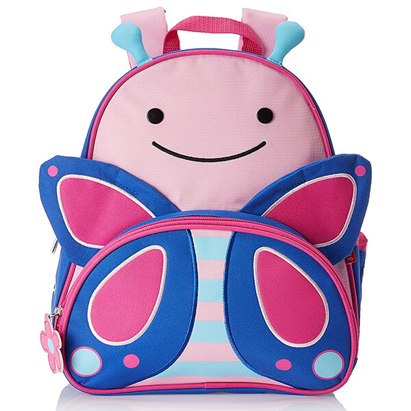 Smiley Toddlers Kindergartners Butterfly Backpack