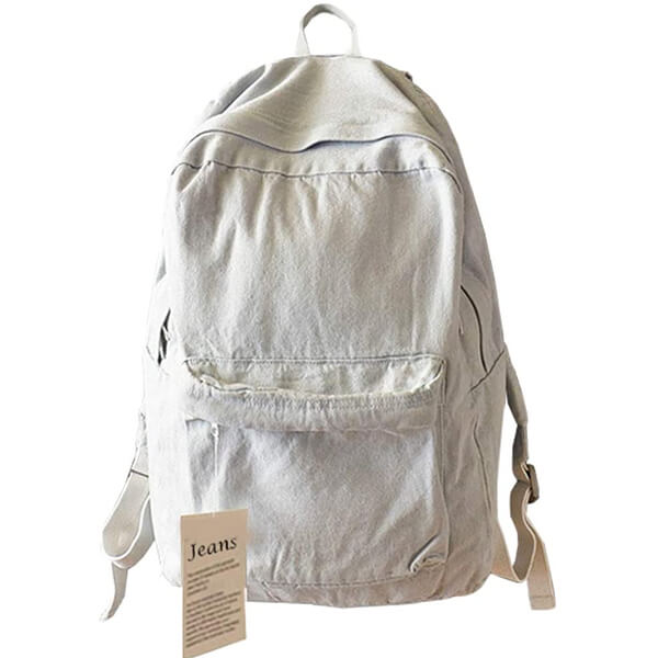Super-Cute White Pigeon Denim Backpack