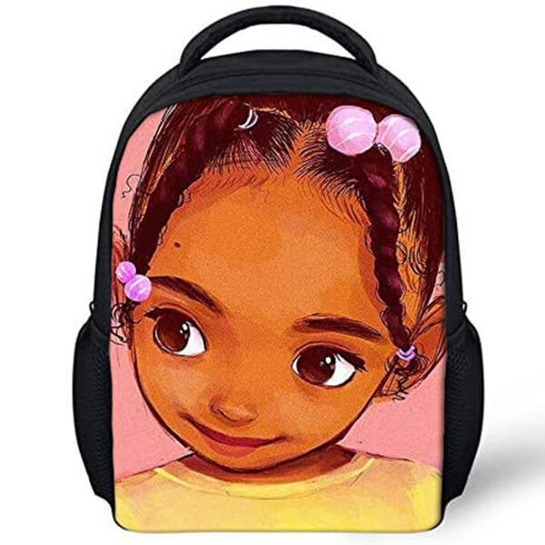 Cute Toddler Customized Name Afro Kids Backpack