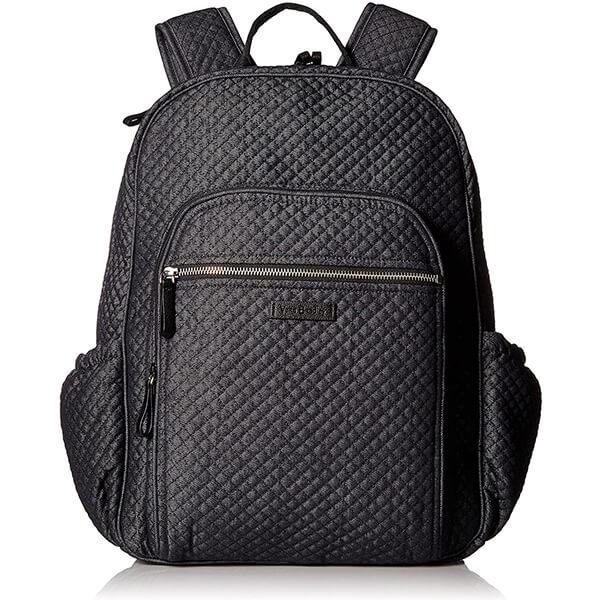 Denim Blue Quilted Cotton Denim Backpack