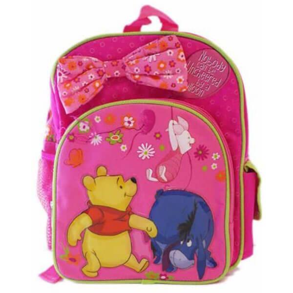 Disney Pink Bowknot Winnie the Pooh Backpack