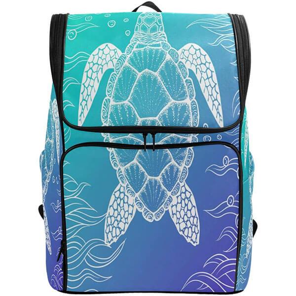 Durable Tropical Ocean Sea Turtle Backpack