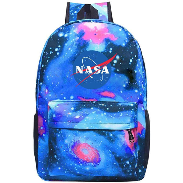 Galaxy School College Student NASA Logo Backpack