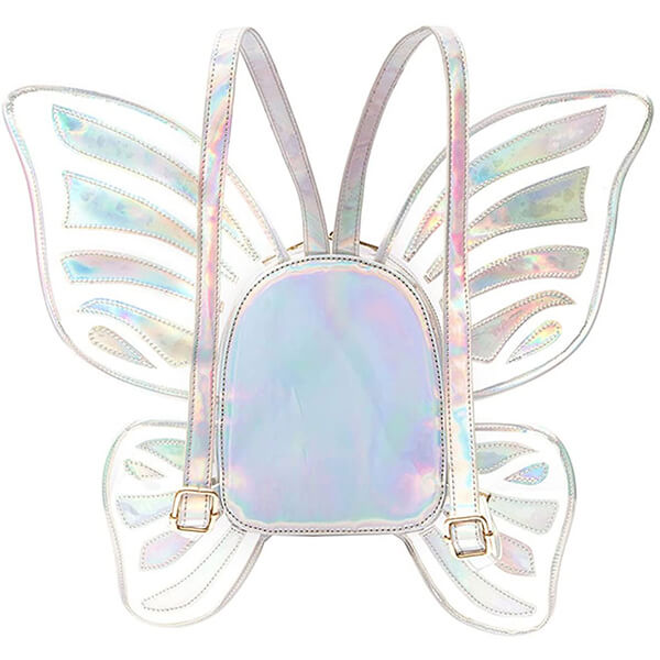 Laser Holographic Angel Wings Butterfly Backpack