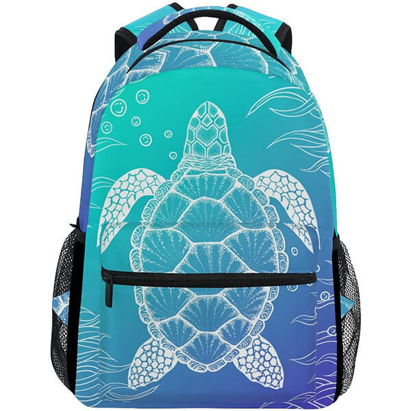 Aquatic Tortoise Casual Turtle Backpack