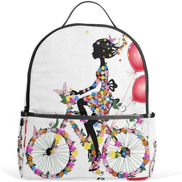 Bicycling Women African American Girl Backpack