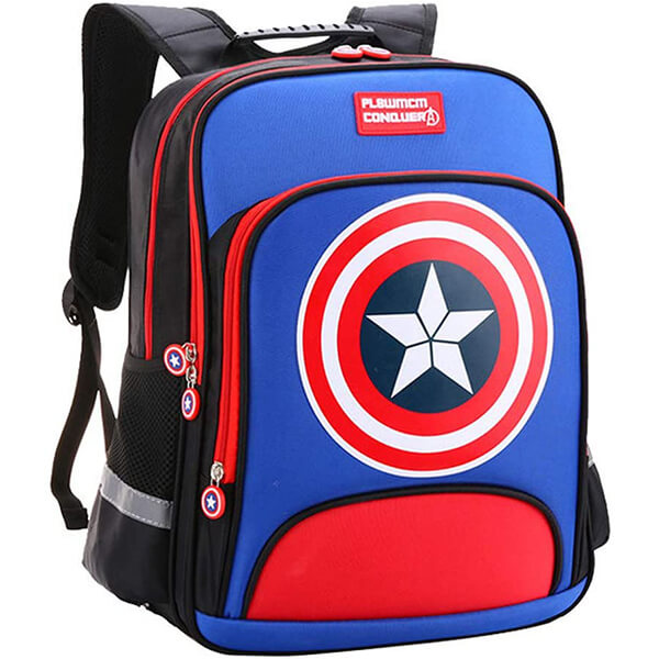 Oxford Waterproof Captain America Backpack for Kids