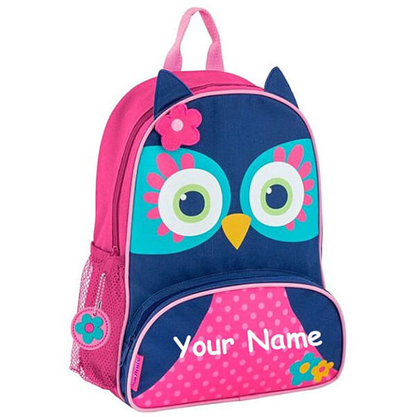 Personalized Name Sidekick Blue Owl Backpack