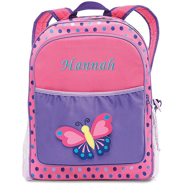 3D Personalized Polyester and PVC Butterfly Backpack