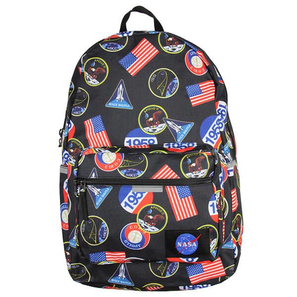 Space Starry Sky Teens NASA Logo Backpack