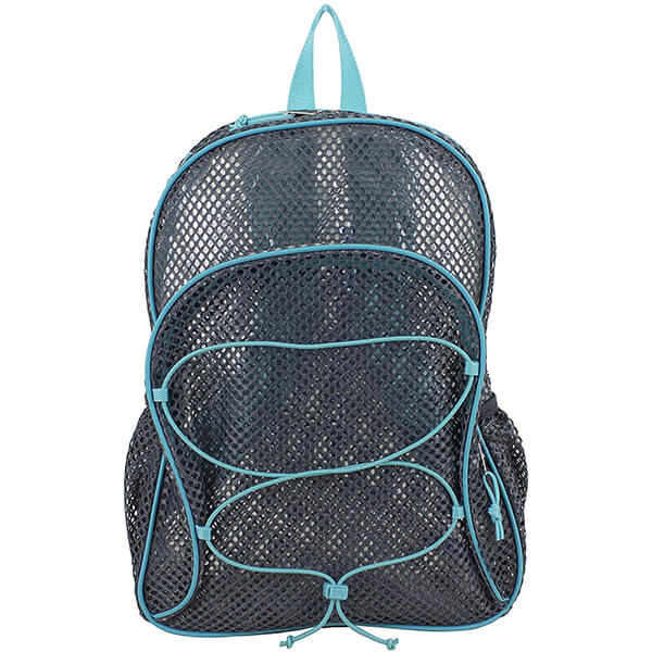Gray Bungee Cute Mesh Backpacks with Padded Shoulder Straps