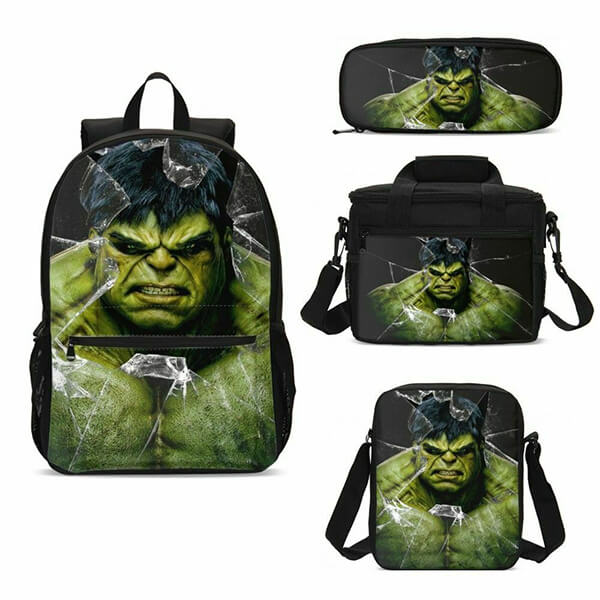 Marvel Hulk Backpack Package with Insulated Lunchbox