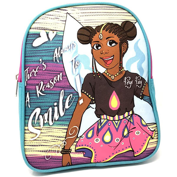 Big Smile Preschool African American Girl Backpack