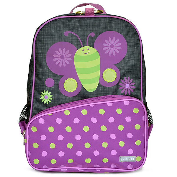 Flower Polka Print Preschoolers Butterfly Backpack