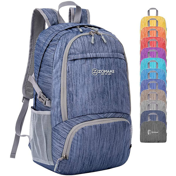 Packable Lightweight Water Resistant Nylon Backpack