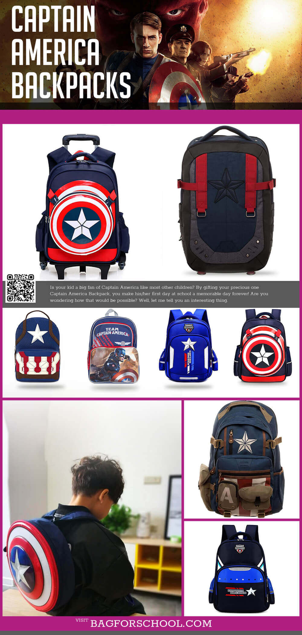 Captain America Backpacks