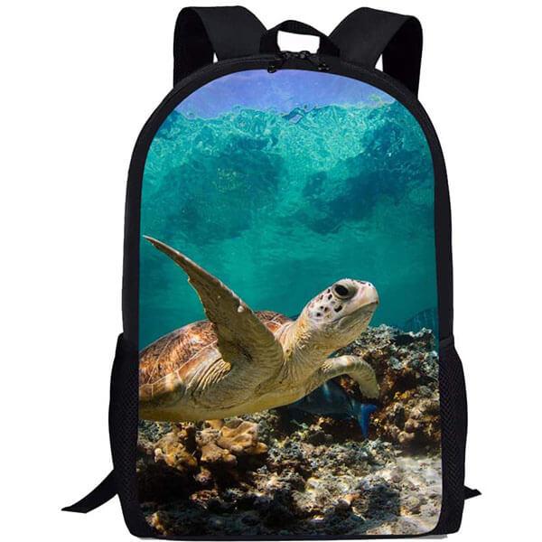 3D Customized Underwater Aquatic Sea Turtle School Backpack