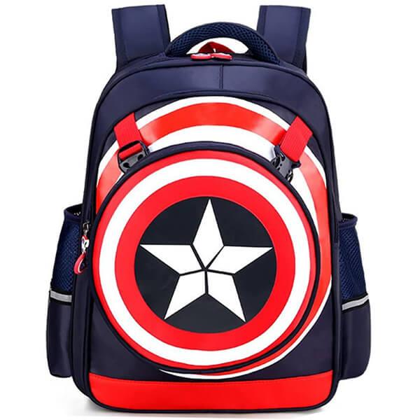 Shield Crest Waterproof Captain America Backpack