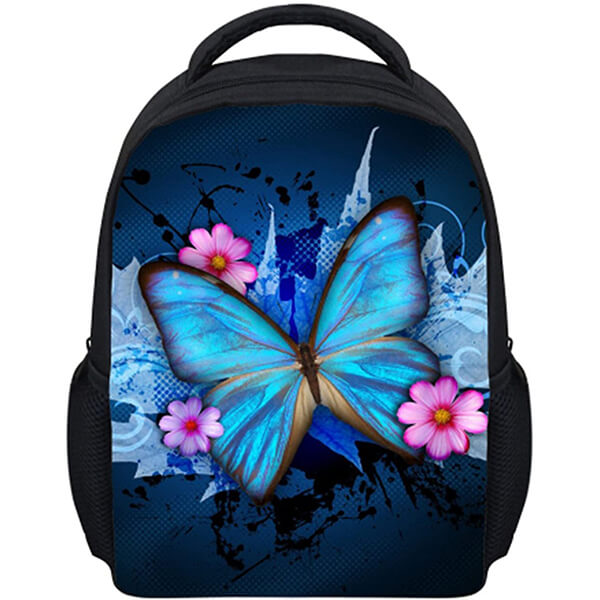 Vivid 300D Polyester Toddlers Butterfly Backpack