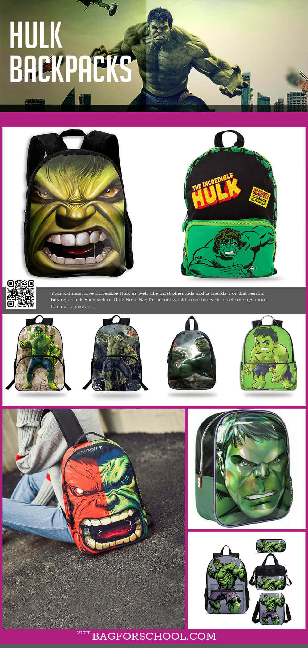 Hulk Backpacks