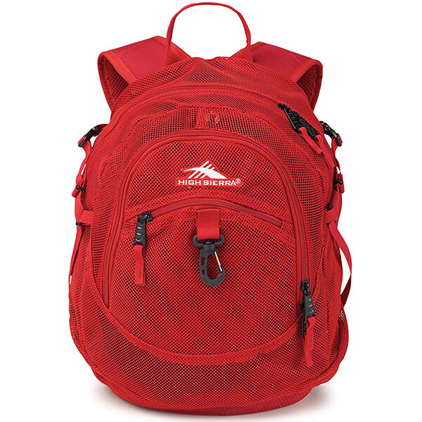 Airhead Mesh Clear Backpack with Mp3 Pocket and Monster Hook