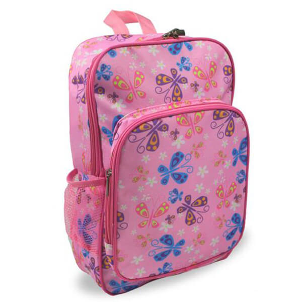 BPA-safe Preschool Kindergarten Pink Butterfly Backpack