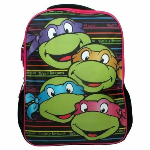 Cute Smiley Ninja Turtles Bookbag