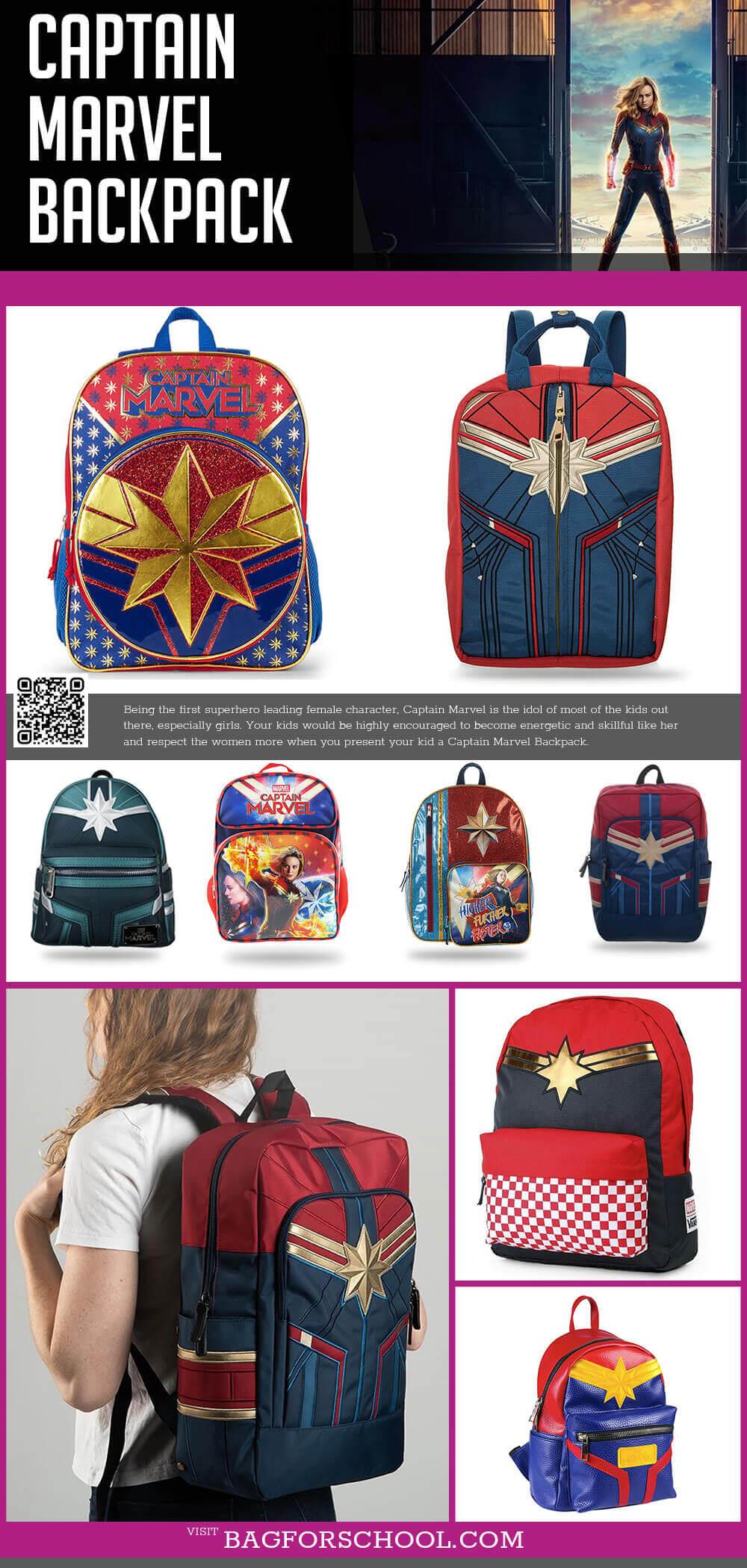 Captain Marvel Backpacks