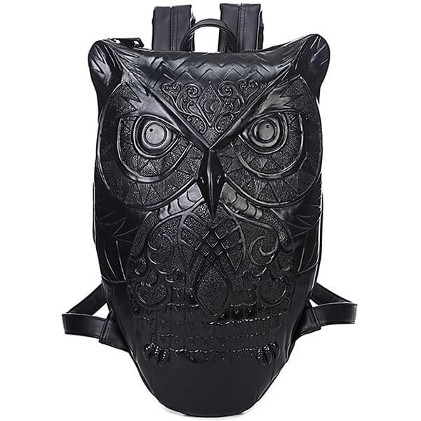 3D Graphic Embossed Owl Shape High Schoolers Book Bag