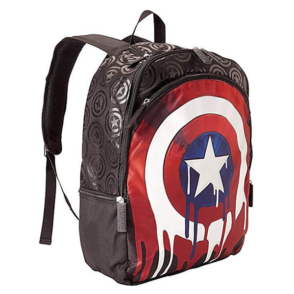 Dripping Shield Marvel Captain America Backpack