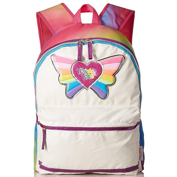 Love Rainbow Grade Schoolers Butterfly Backpack