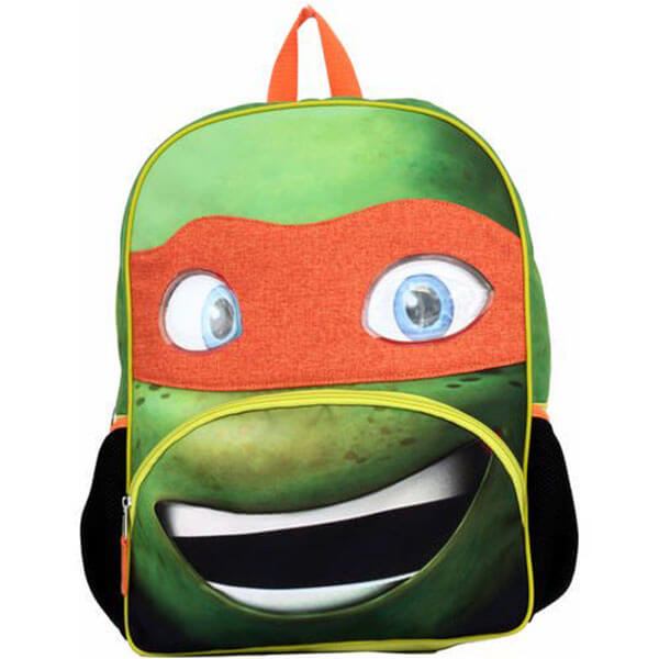 Michelangelo Big Face Ninja Turtle Backpack