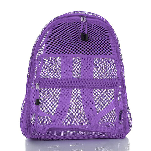Purple Love Mesh Backpack for Girls