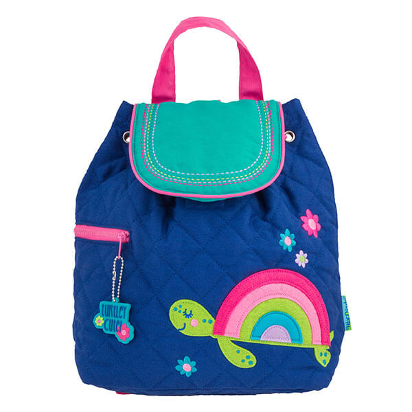 Quilted Rainbow Turtle Girl's Backpack