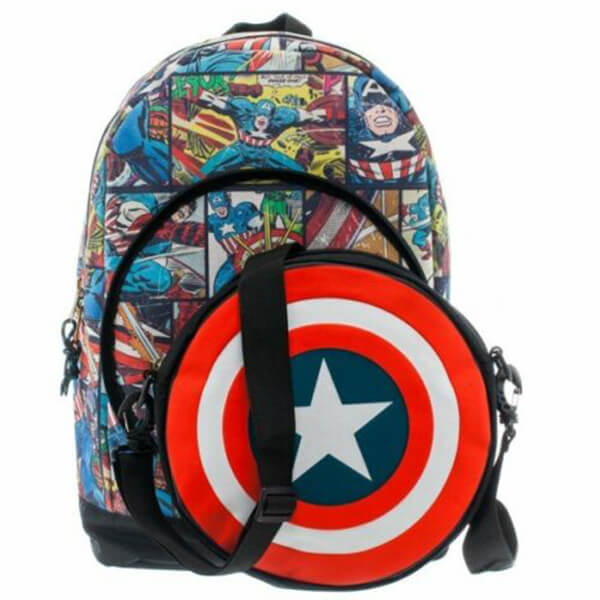 Civil War Cooler Pocket Captain America Backpack for Kids