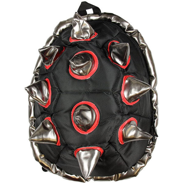 Black-Red Spiked Turtle Shell Backpack
