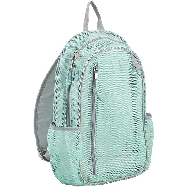 Mint with Soft Silver Active Mesh Backpacks