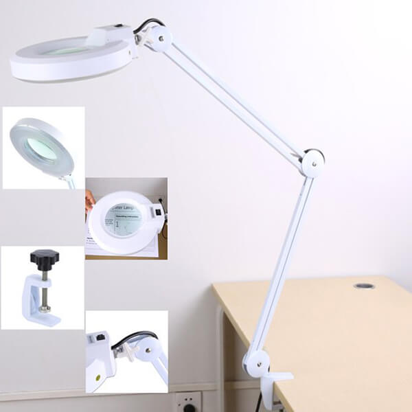 5X LED Desk Magnifier Lamp