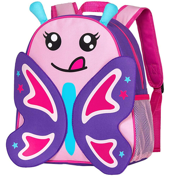 Preschool BPA-free Safe Butterfly Backpack for Girls