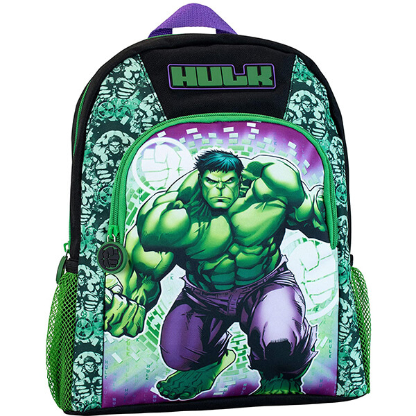 Smashing Green Shade Hulk Backpack for Kids