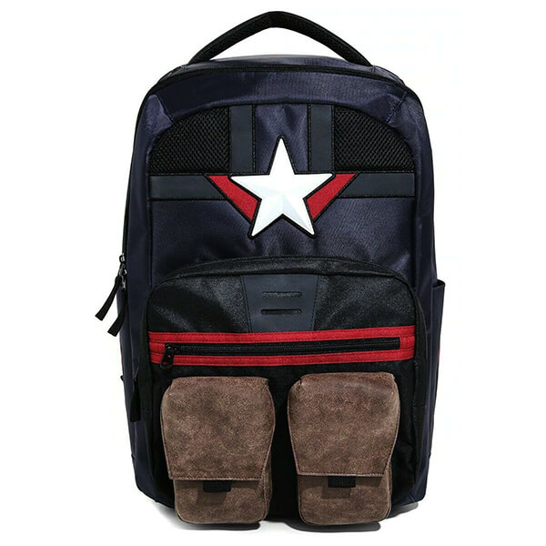 Star Marvel Captain America Backpack for Kids