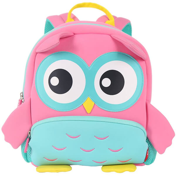 Waterproof Soft SBR Material Cute Owl Backpack