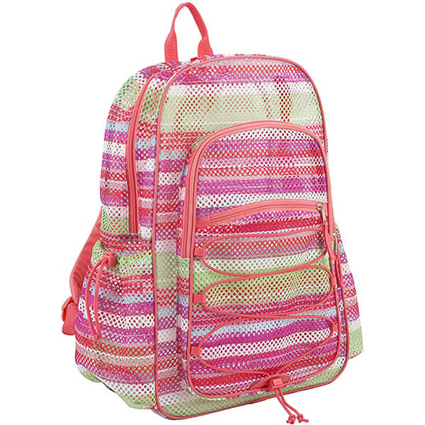 XL Semi-Transparent Bungee Mesh Backpacks
