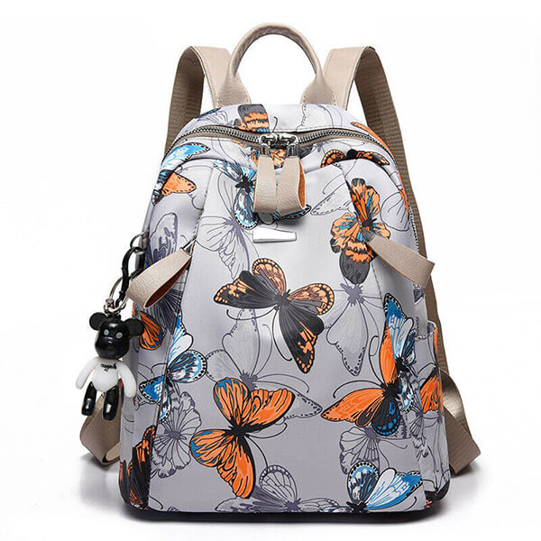 Casual Waterproof Oxford Butterfly Book Bag