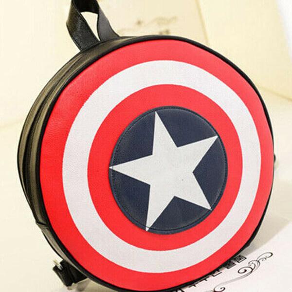 Fashionable Super Hero shield Captain America Book Bag