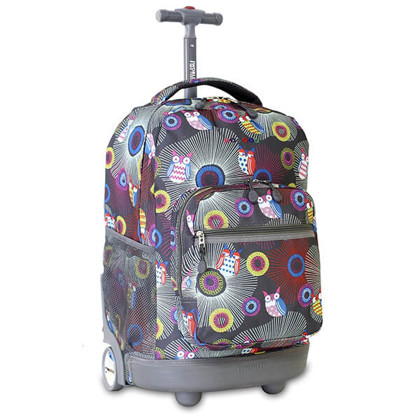 Blazing Owl Secondary Schoolers Rolling Backpack