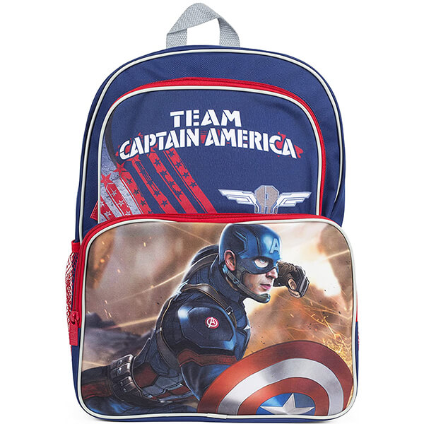 Team Captain America Backpack for Kids