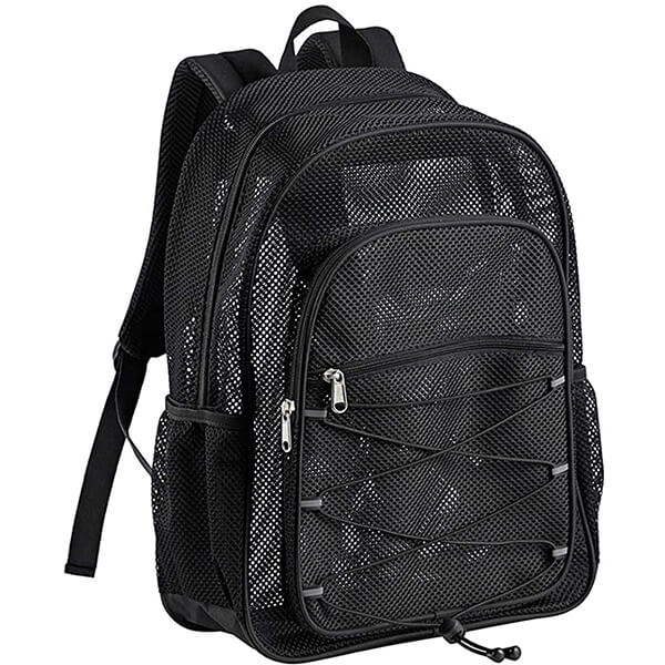 Unique Heavy Duty Semi-transparent Bungee Mesh Backpack