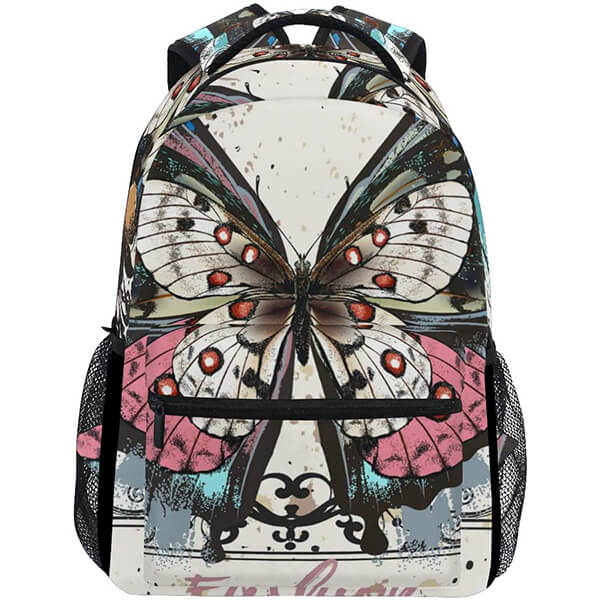 Vintage Twill Weave Angel Butterfly Backpack
