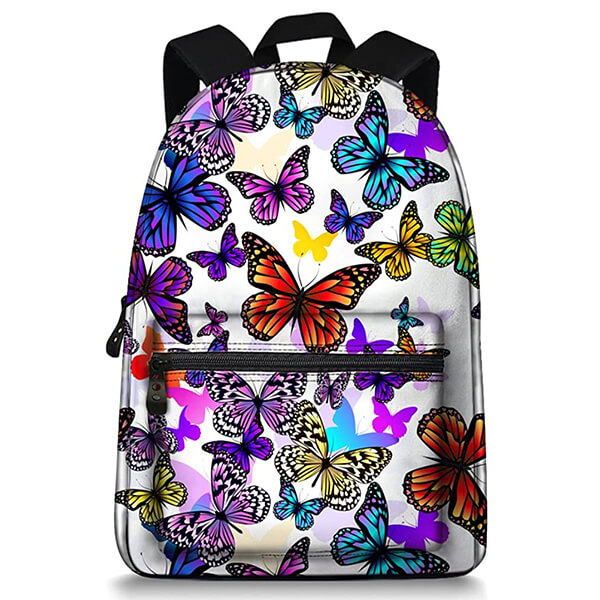 Canvas with Polyester Lining Secondary Butterfly Backpack